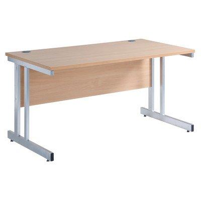 Momento escritorio sin cajones acabado: madera de roble, tamaño ...