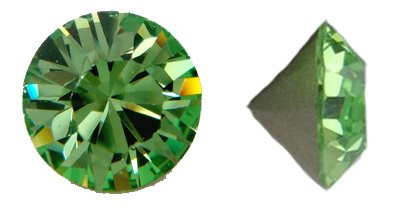 - Swarovski Elements Crystal Peridot Chatons (Pp24, Approx. 3mm, Xillion Round Cut)