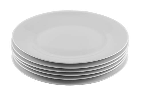 (Professional Gourmet Porcelain Dinner Plate- Set of 6 (Dinner)