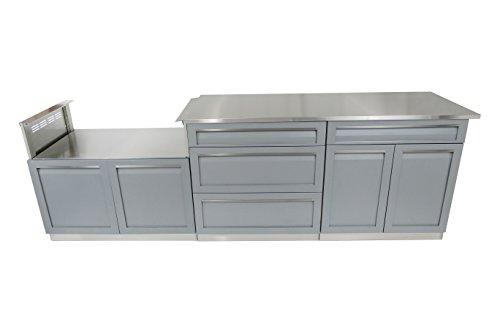 Outdoor Kitchen Kits - 4 Life Outdoor G40029 Outdoor Kitchen Cabinet, 4 Piece Set (106