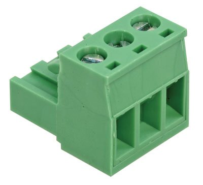 On Shore Technology OSTTJ035153 Connector Terminal Blocks, 3 Position, Right Angle, Cable Mount, 20A, 15.1 mm H x 15.24 mm L (Pack of 5)