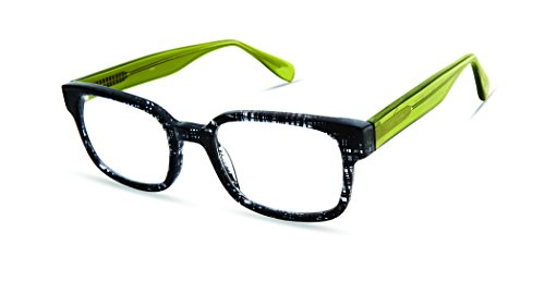 Gannon Street - Rounded Rectangle Trendy Fashion Reading Glasses for Men and Women - Black Tattersall (+2.50 Magnification Power) ()