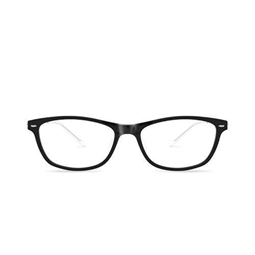 - SQV i-Fit 102 - Ultralight Eyeglasses Frame - Modern Non-prescription Glasses - Clear Lens Eyewear for Women (Black)