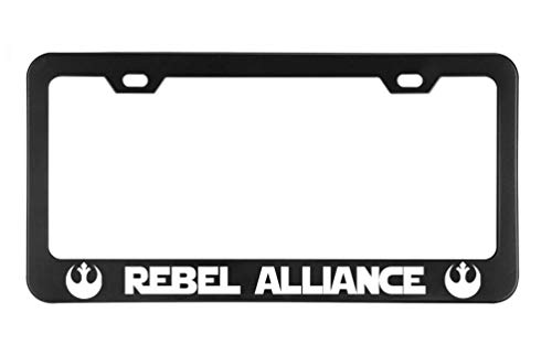 URCustomPro Rebel Alliance Starwars Soldier Military License Plate Frame for Women/Men, Stainless Steel Car Licenses Plate Cover for Front or Back License Tag ()