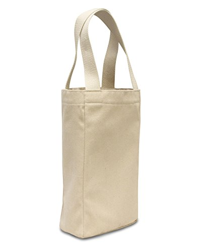 Liberty Bags Double Bottle Wine Tote (1726)- Natural,One Size