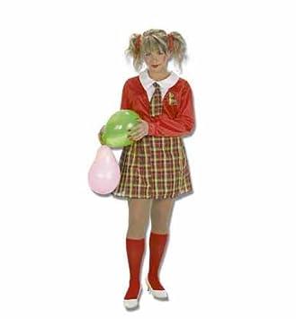 LLo - 4161 - disfraz colegiala con calcetines, talla única: Amazon ...