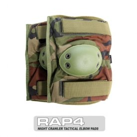 Night Crawler Tactical Elbow Pads (Woodland) - paintball elbow pads by RAP4