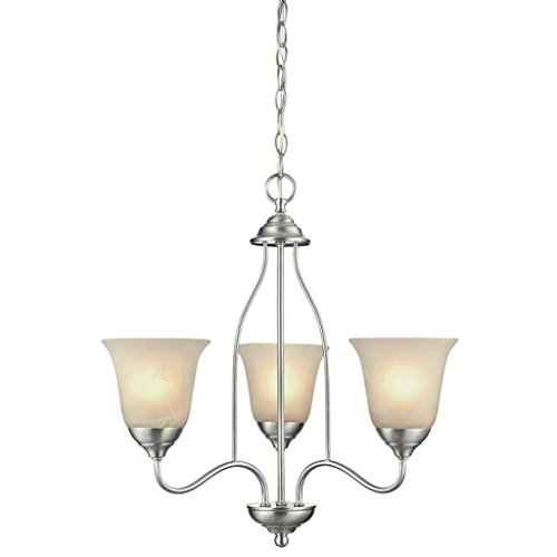Westinghouse Chandelier Satin - Westinghouse 62269 - 3 Light (Medium Screw Base) 21.5