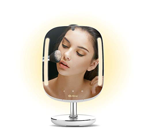 HiMirror Mini 16G: Smart Beauty Mirror - LED Lighted Vanity Mirror with Skin Analyzer, Virtual Cosmetic Makeover, Spotify, Social Media, 2X/3X Magnification and More, Smart Makeup Mirror. (Fixture High Track Tech)