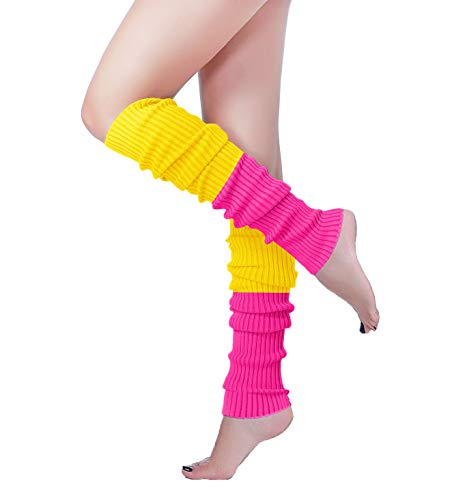 V28 Women Over Knee Cable Knit Ribbed Crochet Long Boot Leg Warmers (H61rs+yl)