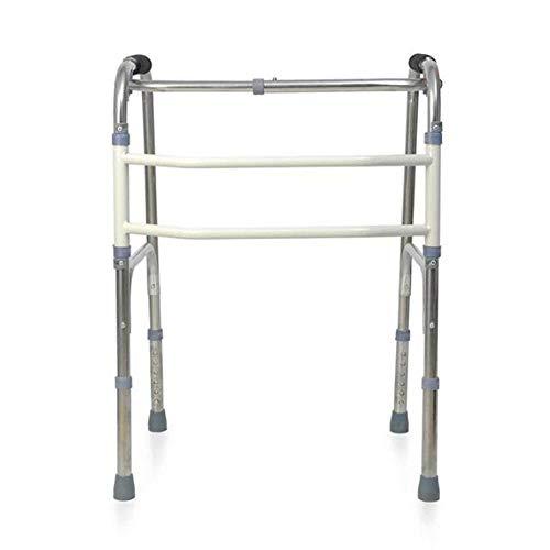 (YLQXLVSYX Crutches Walker, Lightweight Folding Walker, Adjustable Four-Leg Stainless Steel Elderly Walker, Rehabilitation kit for The Disabled,A,1)