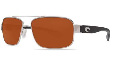 Costa Del Mar Sunglasses - Tower- Glass / Frame: Palladium Lens: Polarized Copper Wave 580 Glass (Lens Wave Glass 580)