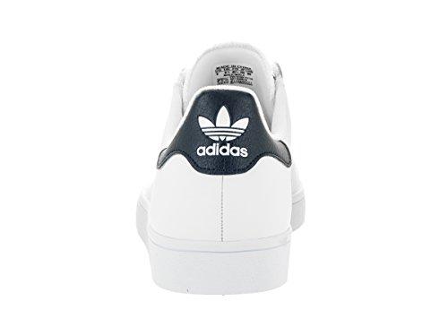 Adidas Superstar Vulc Adv Ftwhite / negro / ftwht del patín zapatos 8,5 con nosotros White/White/Collegiate Navy