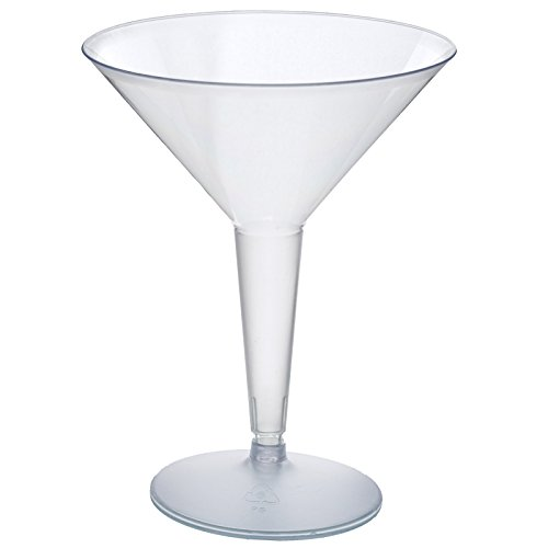 (Efavormart 50 Pcs - Clear 8oz Disposable Plastic Martini Glass - Crystal Collection)