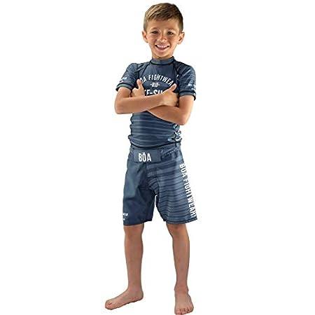 BOA Jogo No ch/ão Grey Fightshort Combat Shorts Kinder