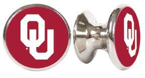 Oklahoma Sooners NCAA Stainless Steel Cabinet Knobs / Drawer Pulls ()