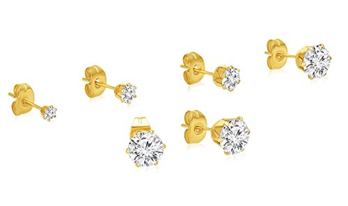 Stainless Solitaire Zirconias Regetta Jewelry