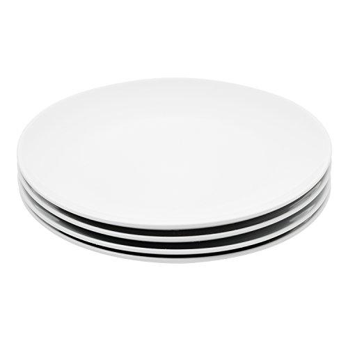 C&L 37159 Elegant Durable Porcelain 4-Piece Dinner Plate Set 10.5-inch, White for $<!--$22.93-->