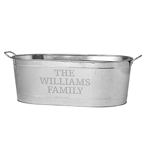 (Personal Creations - Personalized Gifts Entertainment Beverage Tub-Family Name )