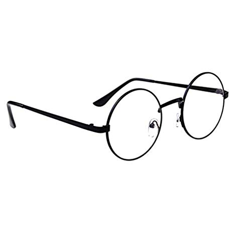 Unisex Korean Vintage Eyeglasses Round Metal Frame Spectacles Clear Lens Eye Glasses ()