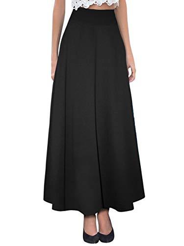 Hybrid & Company Women's Versatile Maxi Skirt/Convertible Dress KSKSD9500 1017 Black XL (Long Skirt Xl)