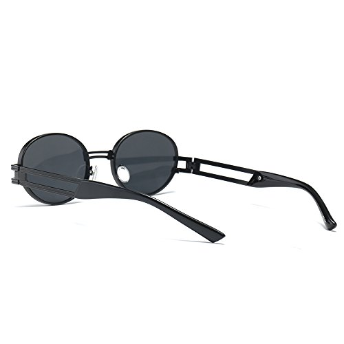 Óvalo gafas mujer de unisex TL sol de UV400 redondo metal Sunglasses con sol pequeño gafas marco para de 0AA51x