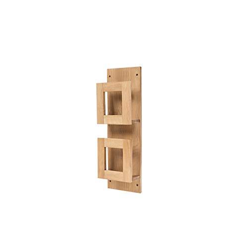 Wood Wall Mounted Book Frame, Picture Data Storage Rack Magazine Stand Newspaper Shelf Bookshelf,Oak Display Stand-Log 70x23x10.5cm(28x9x4inch)
