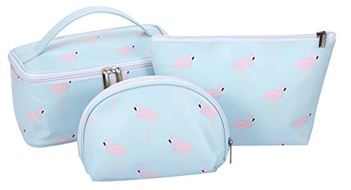 HOYOFO Makeup Bags Flamingo Travel Cosmetic Case Toiletry St
