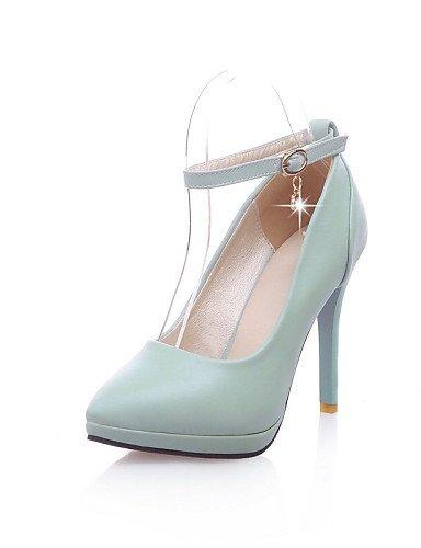 GGX/ Herren / Mädchen / Unisex / Damen-High Heels-Hochzeit / Büro / Kleid / Lässig / Party & Festivität-Mikrofaser-Stöckelabsatz-Absätze-Blau pink-us6.5-7 / eu37 / uk4.5-5 / cn37
