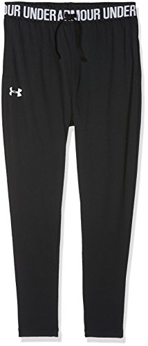 (Under Armour Girls' Tech Jogger,Black (001)/White, Youth Small)