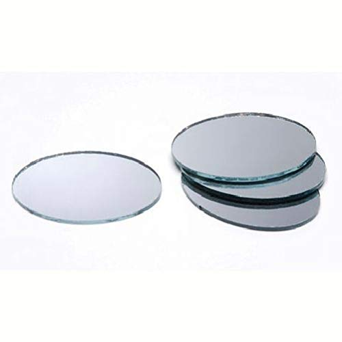 - Art Cove 4 x 3 inch Glass Craft Small Oval Mirrors 2 Pieces Mosaic Mirror Tiles