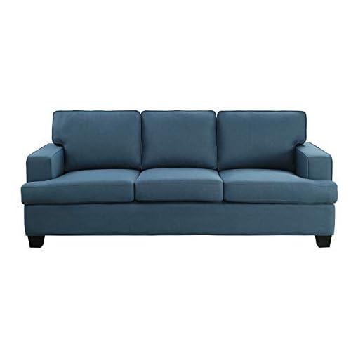 Farmhouse Living Room Furniture Lexicon Ashland Living Room Sofa, Blue farmhouse sofas and couches