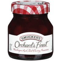 (Smucker's Orchard's Finest Michigan Red Tart Cherry Preserves 12 oz (Pack of 4))