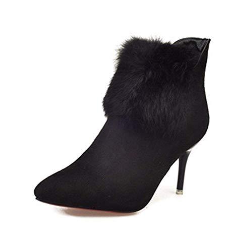 Boots Fino Cremallera High 's Heels Mujer 35 Martin Invierno Eu Zapatos Deed De Botas Con Tacón Otoño xCqUHU