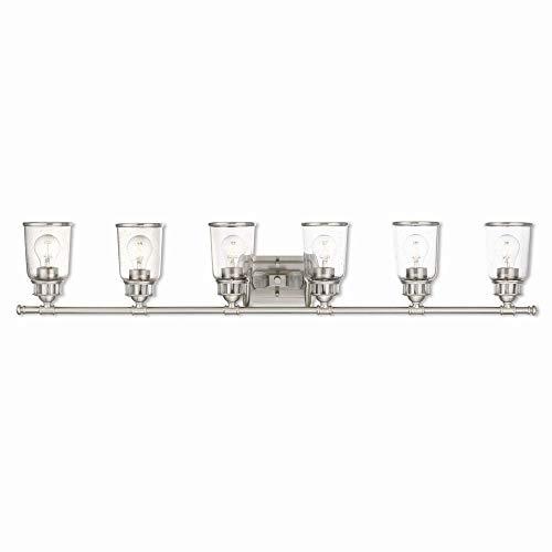 Livex Lighting 10516-91 Lawrenceville 6 Light Bath Vanity, Brushed Nickel ()
