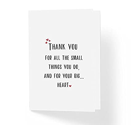 Amazon thanks for all the small things you do inspirational thanks for all the small things you do inspirational thank you greeting card 5quot m4hsunfo