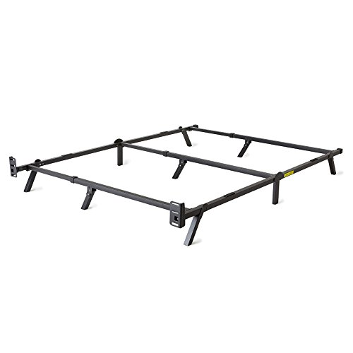 intelliBASE Adjustable Twin/Full/Queen Low Profile Metal Bed Frame by intelliBASE