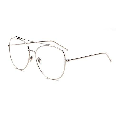 dking-fashion-aviator-metal-eye-glasses-frame-clear-lens-eyeglasses-silver