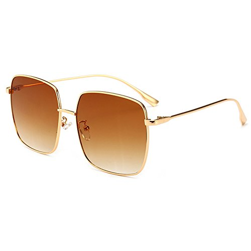 Sunglasses Luxury tea Shopping Eyewear Frame Shield Travel Square Oversize Lens Fashion Women Sunglasses Street Sunglasses Coolest UV Gold Protection EHTvwqx5