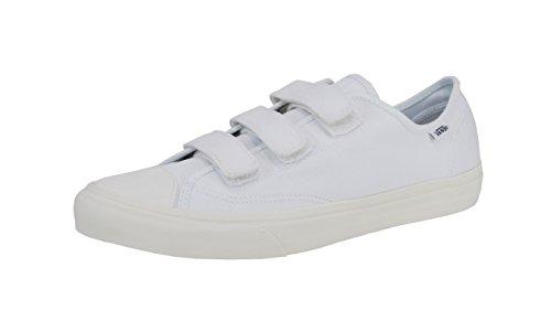 Scarpe Vans Unisex Prison Issue True White / Off White (twill) Fashion Sneaker (13 Mens / 14.5 Donna)