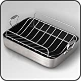 Chef's Design 18-14 1/4-Inch French Roaster with Rack