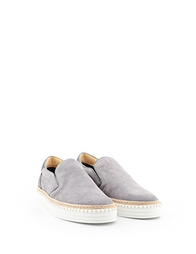 Hogan Herren Hxm2600j380fm6573l Grau Wildleder Slip On Sneakers