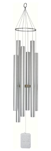 Earth Song Wind Chimes - Grace Note Chimes 1X 62-Inch Earth Song Wind Chimes, X-Large , Silver