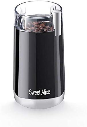 Amazon.com: Molinillo de café eléctrico, acero inoxidable ...