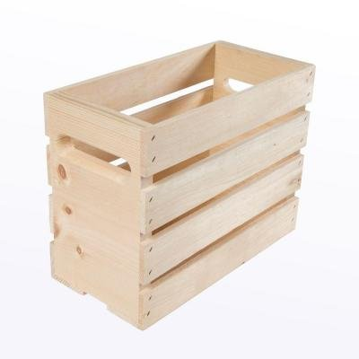 12.5 in. x 6.625 Inch x 9.5 Inch Growler Small Wood Crate (2-Pack)