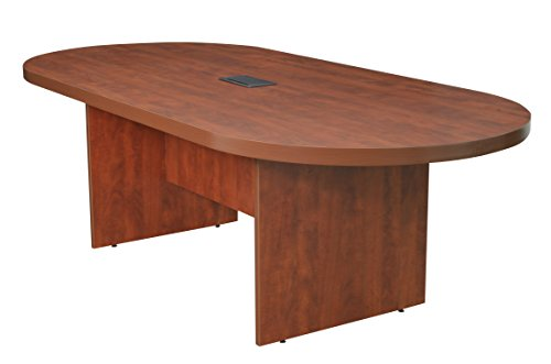Regency LCTRT9543-CH and and Power Data Grommet Legacy Racetrack Conference Table, 95-inch, Cherry