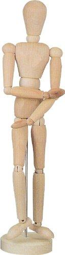 592172 –  modello bambola, 20 cm di altezza, Unisex, in legno di faggio naturale, qualitaiv lavorazione di alta qualità . 20cm di altezza qualitaiv lavorazione di alta qualità. Art-Manufacture-Design