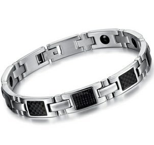 Brand New Men's Titanium Magnetic Bracelet in a Nice Gift Box, Anti-fatigue, Pain Relief -BR236