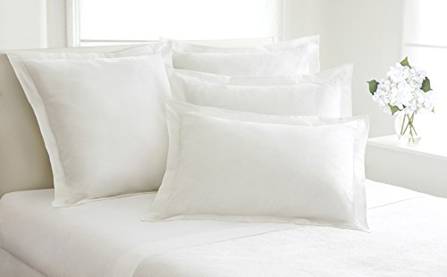 Fresh Ideas Tailored Poplin Pillow Shams – Gorgeous Decorative Bed Pillowcover – White, European, 1 PC (26 x 26 Inches)