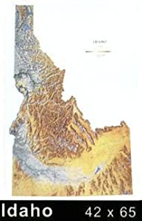 Amazoncom Idaho Topographic Wall Map By Raven Maps Laminated - State of idaho map